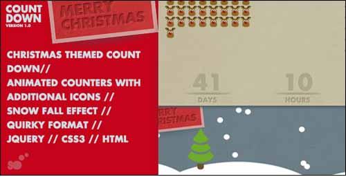 Christmas Countdown Animated Counter & Snowfall