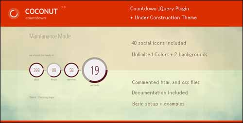 Coconut jQuery Countdown Plugin