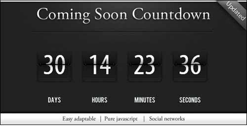 Countdown construction page jQuery Plugin