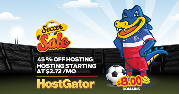 Hostgator Fifa World Cup Sale 45 OFF
