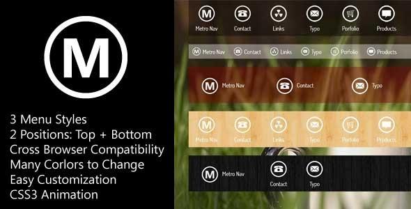 MetroNav Metro Navigation Bar