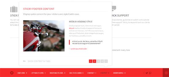 Stick it HTML5 & CSS3 Sticky Footer & Menu