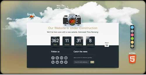 fresh Parallax Under Construction Countdown Plugin