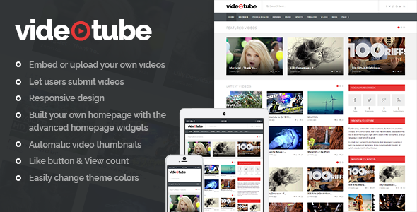 VideoTube WP theme