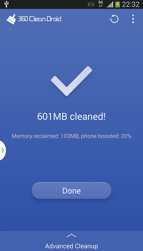360 Clean Droid App Screenshot