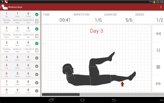 Abs workout Android