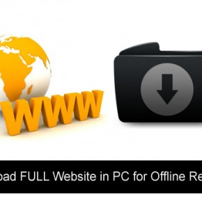 Download FULL Website in PC for Offline Reading