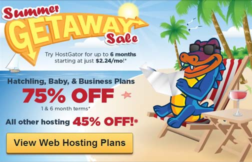 Get 75% OFF HostGator Web Hosting on this Summer Sale