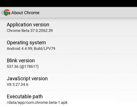 Google Chrome beta Latest Version Points Out the Next Android