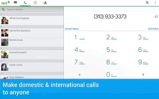 textPlus Free Text + Calls for Android