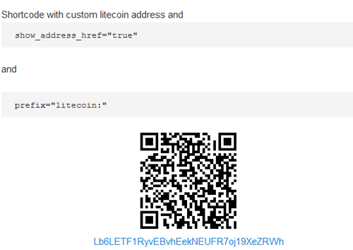 Bitcoin Payments Widget Shortcode