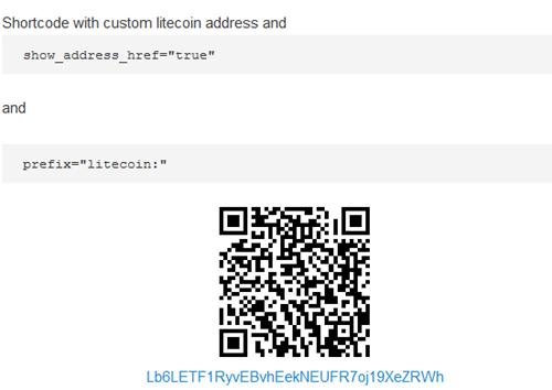 Bitcoin Payments Widget Shortcode