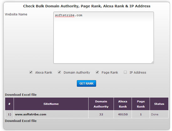Bulk Domain Authority Checker