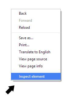 Inspect element browser trick