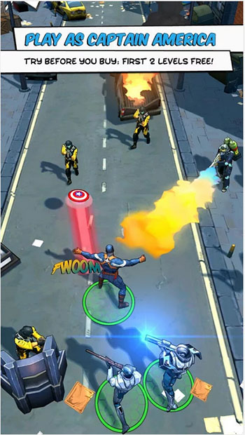 Captain America Action Game for Android