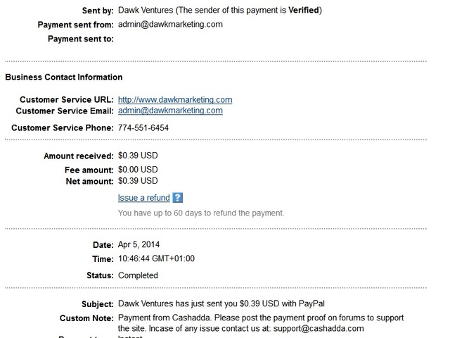 CashAdda Payment Proof