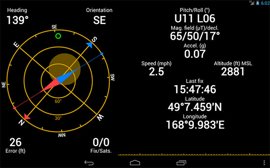 GPS Status & Toolbox Android