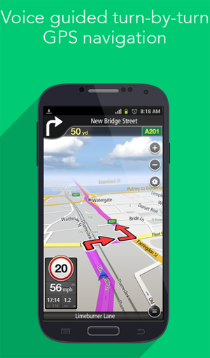 NavFree GPS navigation Android app