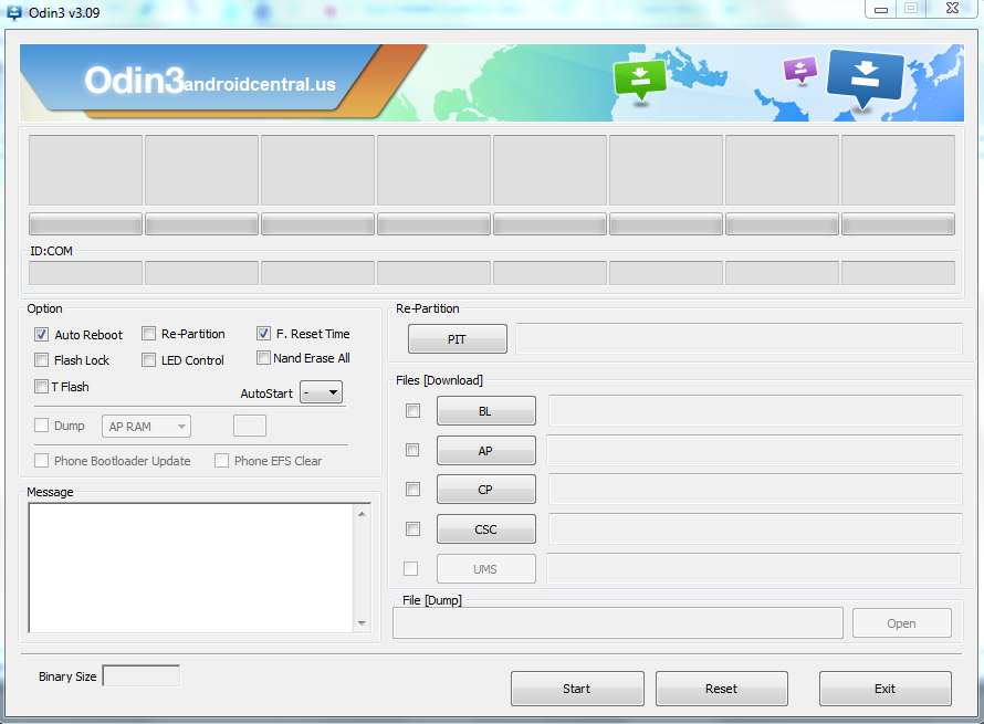 Odin 3.09 Flashing Tool