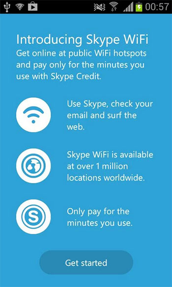 Skype WiFi Android App