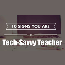 Tech savvy teacher online