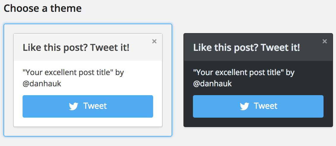 Tweet Prompt Box WordPress Plugin