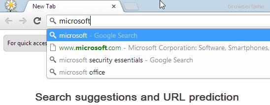 Search using omnibox
