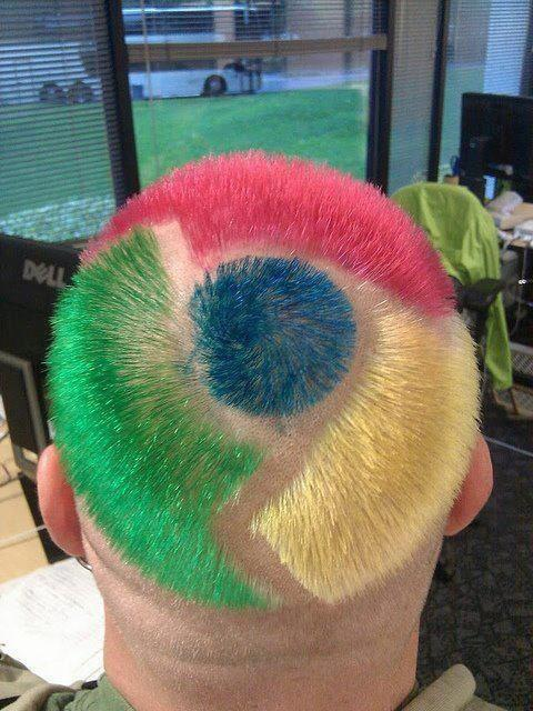 Google Chrome hairstyle
