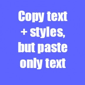 Paste only text in Chrome