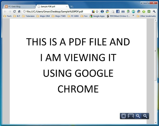Run PDF using Chrome