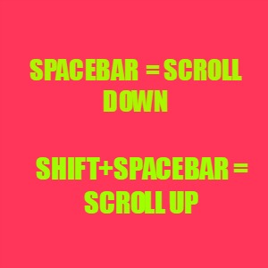 Scrolling shortcuts in Chrome