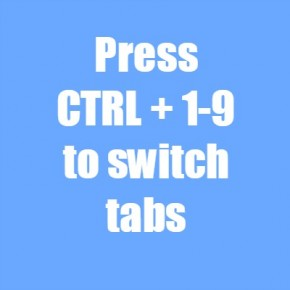 Switch tabs Chrome shortcut