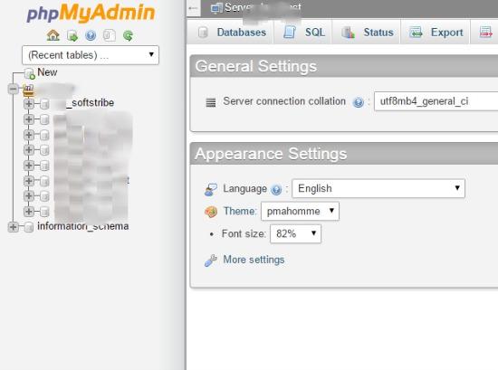 Clicking database - Backup WordPress