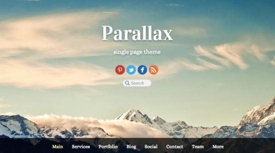 Parallax scrolling