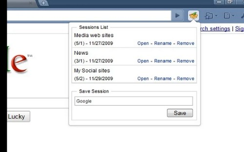 Session Manager   Chrome Web Store