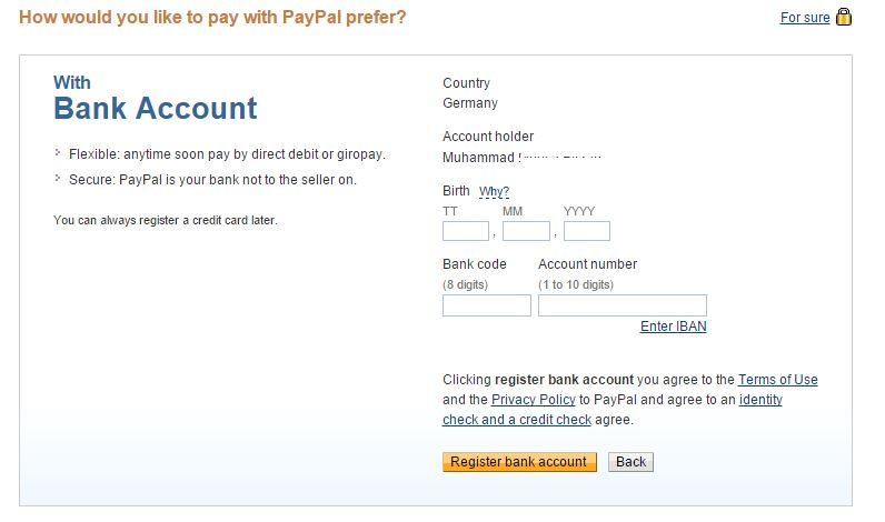 Linking Payoneer Euro Payment Service with PayPal German Account