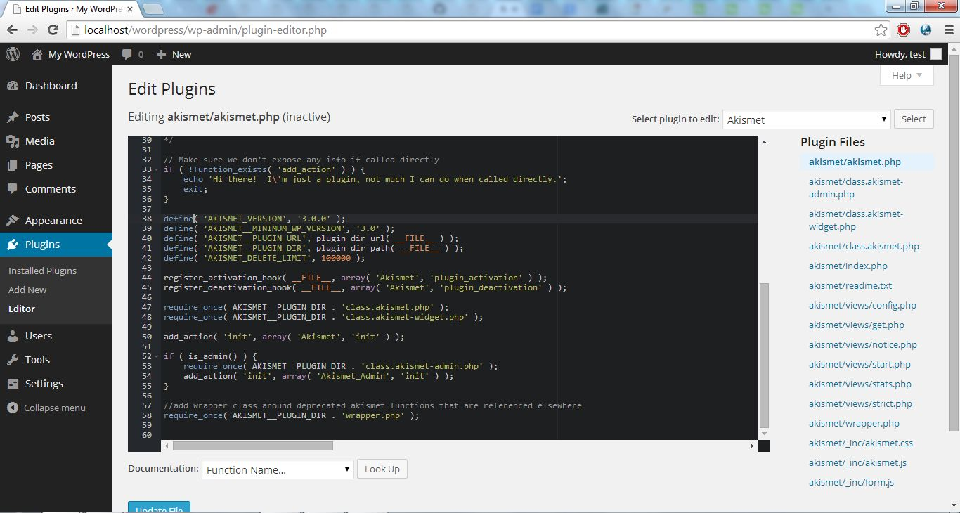 Syntax Highlight WordPress Theme and Plugin Editor