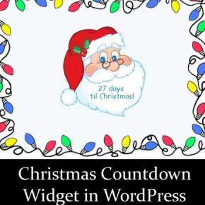 Christmas Countdown Widget WordPress Thumbnail