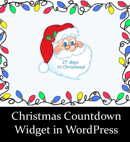 How to add Christmas Countdown Widget in WordPress