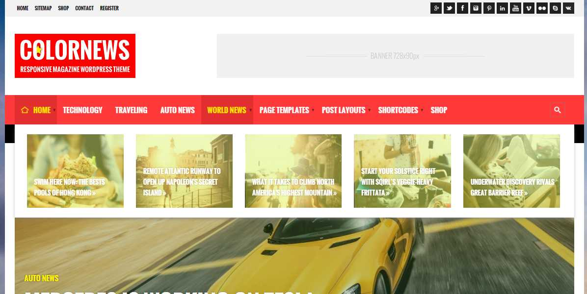 ColorNews News Magazine WordPress Theme