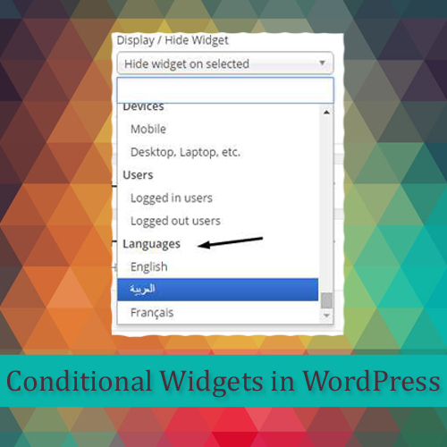 How to add conditional widgets in Multi-language WordPress site