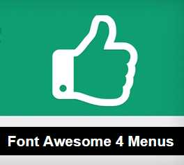 How to add Font Awesome Icons in WordPress Menus