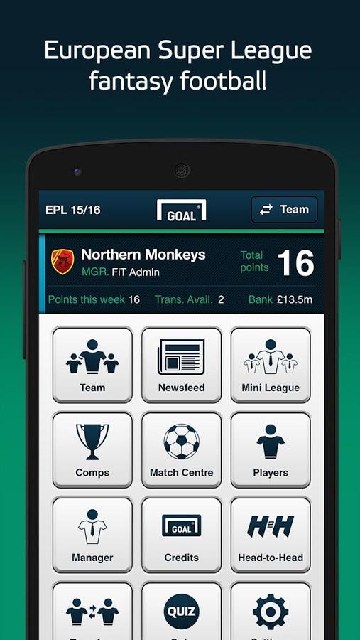 Goal Fantasy Football v2.0.6 .apk File