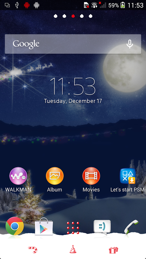 XPERIA™ Christmas Theme v1.1.0 .apk File