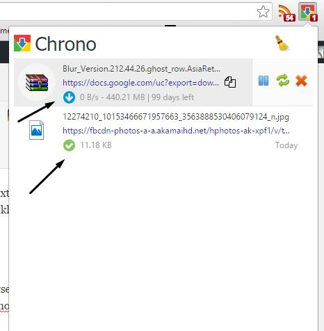 chrono download history