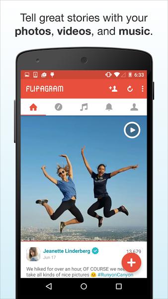 Flipagram – Slideshows + Music v5.4.3 .apk File