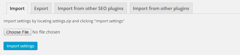 Import Yoast Settings