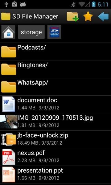 SD File Manager v1.0.9 .apk File