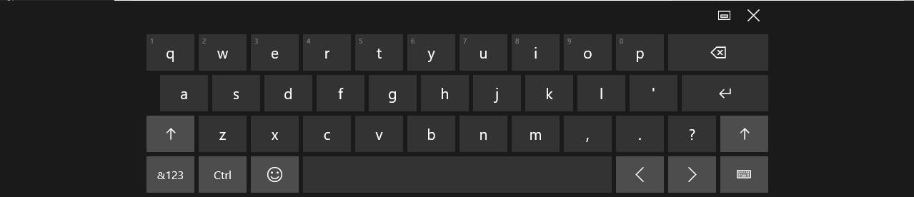 Touch Keyboard Windows 10
