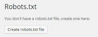 create robots.txt button
